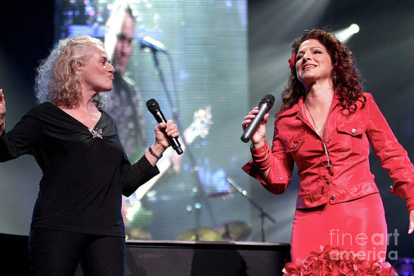 Carole King Photograph - Carole King And Gloria Estefan by Concert Photos