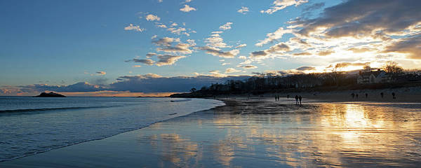 Photograph - Singing Beach As Sunset Panorama Manchester Ma by Toby McGuire