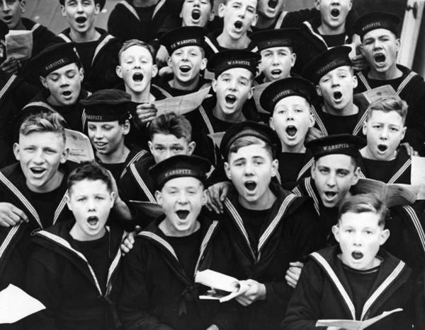 Cadets Wall Art - Photograph - Singing Cadets by Fox Photos