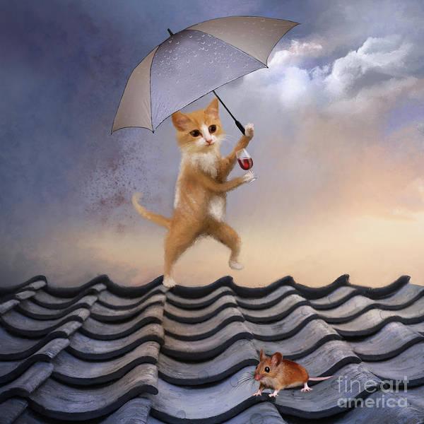 Digital Art - Singing In The Rain by Anne Vis