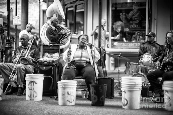 Photograph - Singing Jazz In The French Quarter New Orleans by John Rizzuto