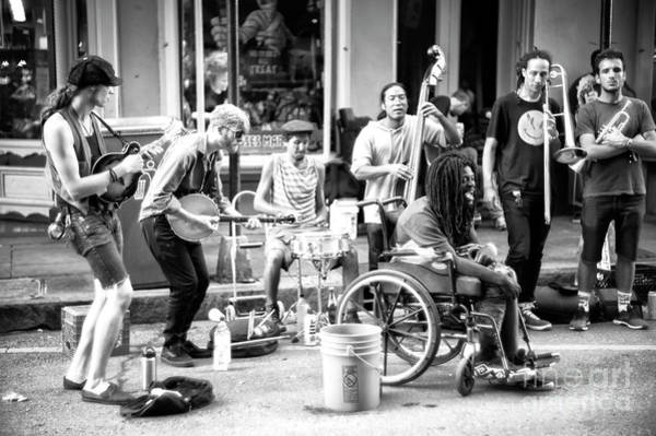 Photograph - Singing With The Band On Royal Street New Orleans by John Rizzuto