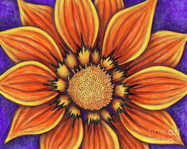 Painting - Single Gazania by Amy E Fraser