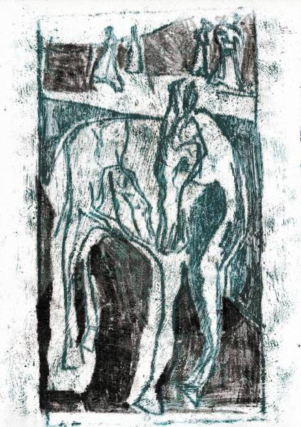 Painting - Single Horse 1 by Artist Dot
