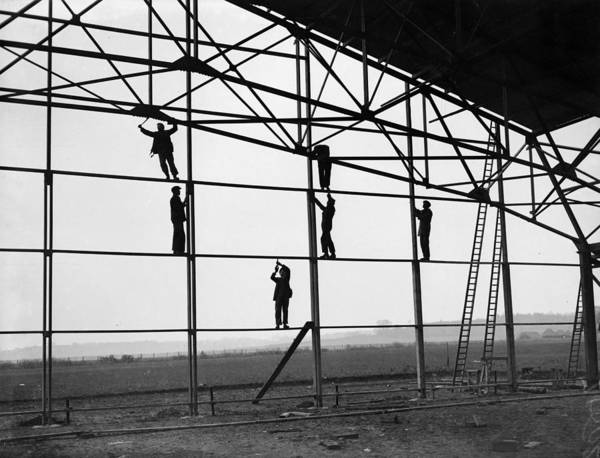 Photograph - Single Span Hangar by Reg Speller