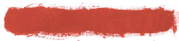 Wall Art - Photograph - Single Thick Red Paint Line by Kevinruss