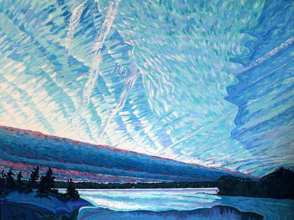 Painting - Singleton Winter Contrails Cirrus And Deformation by Phil Chadwick