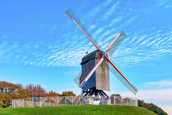 Photograph - Sint-janshuis Mill by Fabrizio Troiani