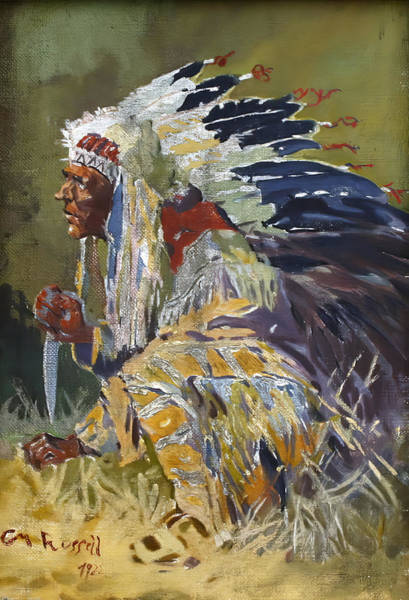 Wall Art - Digital Art - Sioux Chief by Charles Russell