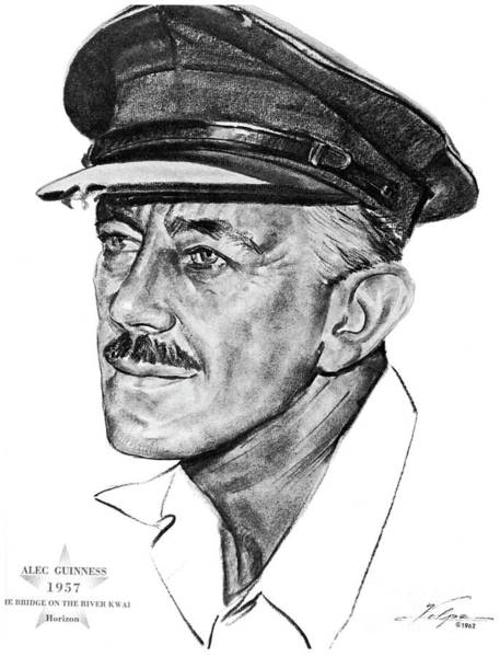 Nostalgia Drawing - Sir Alec Guinness, Actor by Esoterica Art Agency