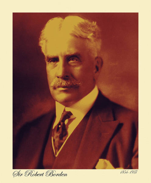 Photograph - Sir Robert Borden by Andrew Fare