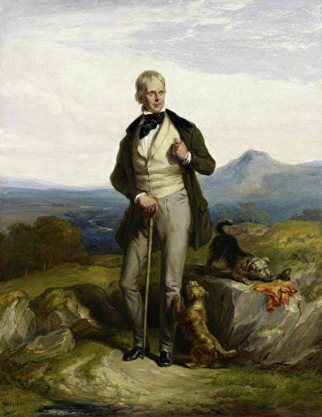 Wall Art - Painting - Sir Walter Scott, Novelist And Poet, 1844 by William Allan