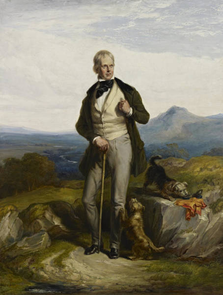 Wall Art - Painting - Sir Walter Scott Portrait - By William Allan by War Is Hell Store