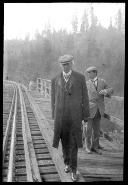 Painting - Sir Wilfrid Laurier By Railway Track 1910 by Celestial Images