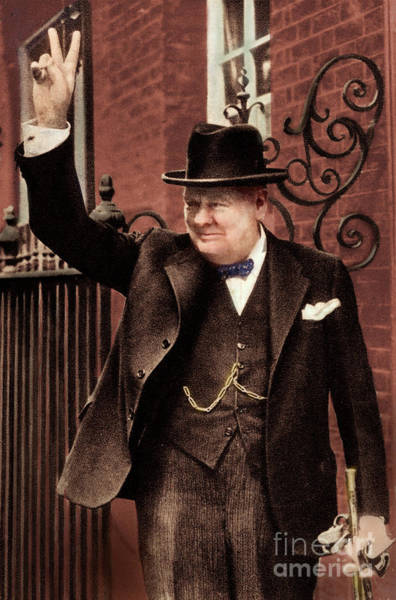 Wall Art - Photograph - Sir Winston Churchill by Unknown
