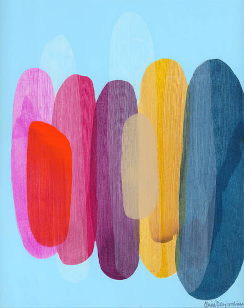 Wall Art - Painting - Sister 02 by Claire Desjardins