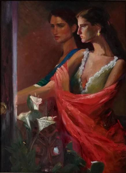 Painting - Sisters At The Door by Irena Jablonski