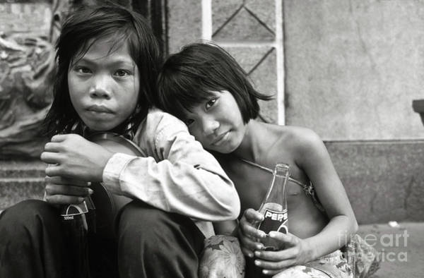 Photograph - Sisters From Cambodia In Saigon by Silva Wischeropp