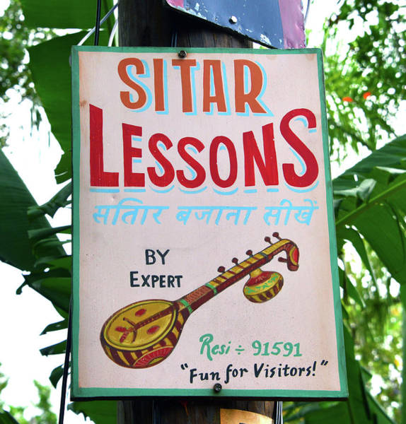 Wall Art - Photograph - Sitar Lessons India by David Lee Thompson