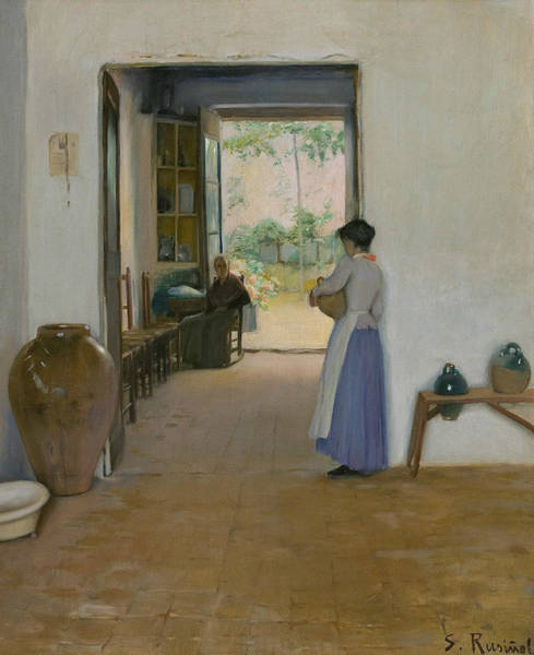 Painting - Sitges Interior by Santiago Rusinol
