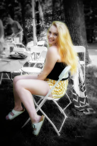 Wall Art - Photograph - Sitting Blonde Portrait Color Select by Brian Wallace