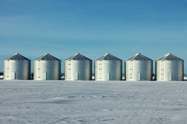 Wall Art - Photograph - Six Bins In A Row by Todd Klassy