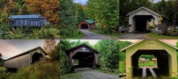 Photograph - Six Covered Bridges Of Montgomery Vermont by Jeff Folger