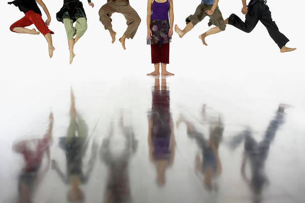Pedal Wall Art - Photograph - Six Dancers In Row, Five Leaping And by Bob Handelman