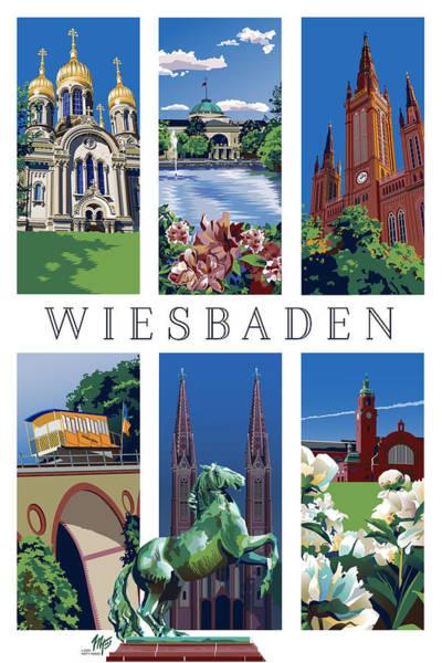 Six Views Of Wiesbaden Art Print