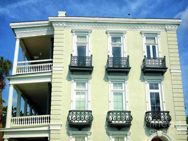 Photograph - Six Windows On The Battery In Charleston by John Rizzuto
