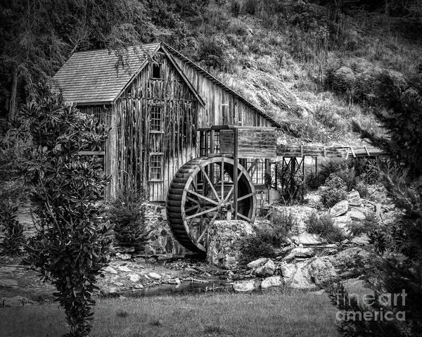 Photograph - Sixes Mill - Monochrome by Nick Zelinsky