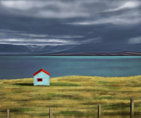 Icelandic Digital Art - Skagafjordur Bay by Shawna Rowe