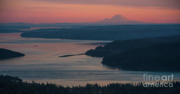 Wall Art - Photograph - Skagit Bay And Mount Rainier Sunset by Mike Reid