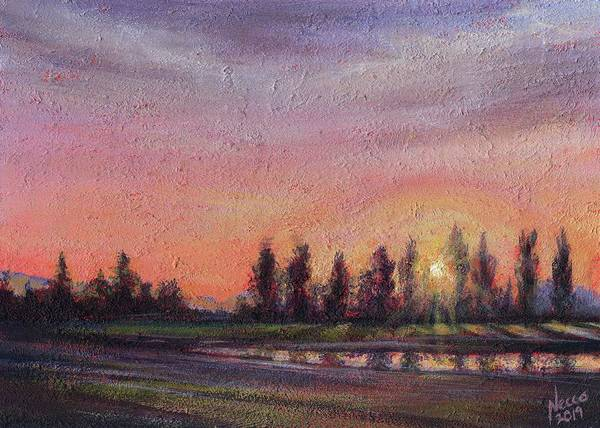 Skagit Valley Painting - Skagit Sunset by Sarah Necco