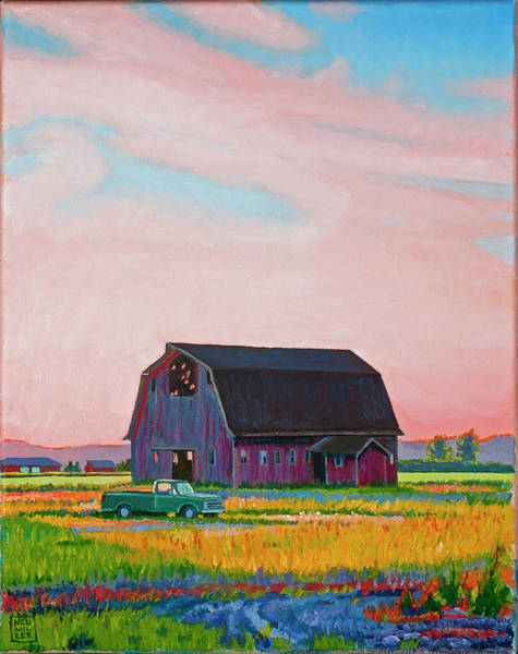 Wall Art - Painting - Skagit Valley Afternoon by Stacey Neumiller
