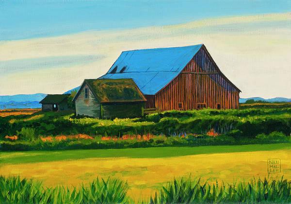 Wall Art - Painting - Skagit Valley Barn #4 by Stacey Neumiller