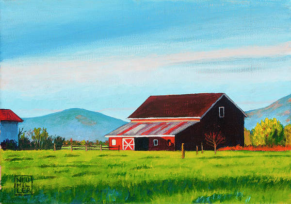 Wall Art - Painting - Skagit Valley Barn by Stacey Neumiller
