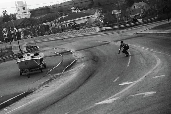 Photograph - Skate Boarder In Machias by John Meader
