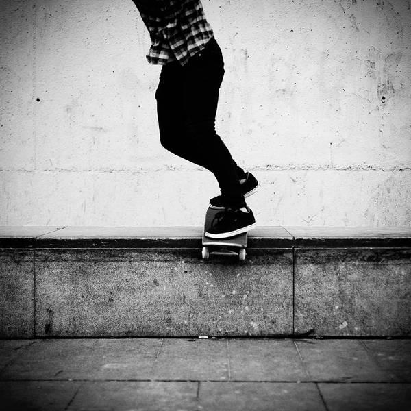 Skateboard Photograph - Skate Grind In Macba by Salva López Photography