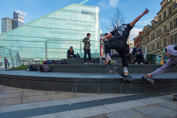 Photograph - Skateboard Action In Manchester by Iordanis Pallikaras