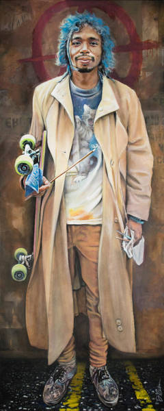 Clovis Painting - Skateboard And Incense by Clovis Rusk