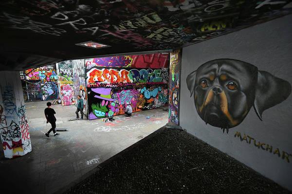 Skateboard Photograph - Skateboardings South Bank Home Under by Oli Scarff