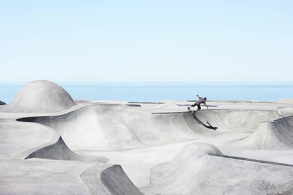 Skateboard Photograph - Skatepark Composite by Chris Leschinsky