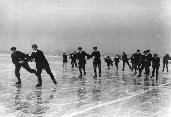 Water Sport Photograph - Skating by Hulton Collection