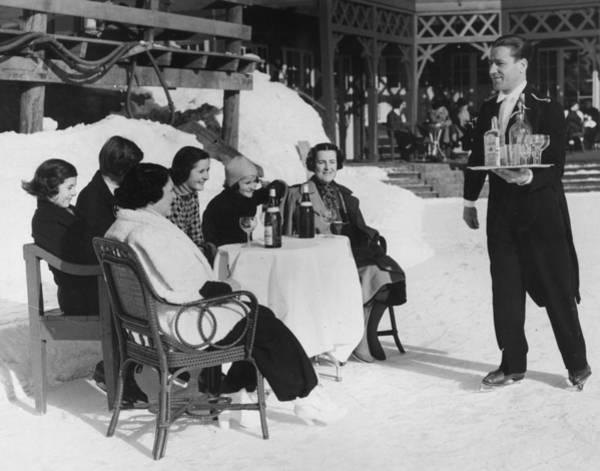 Waiter Photograph - Skating Waiter by Horace Abrahams
