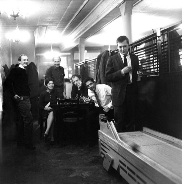 Cage Photograph - Skee-ball At Dillons Bar by Fred W. McDarrah