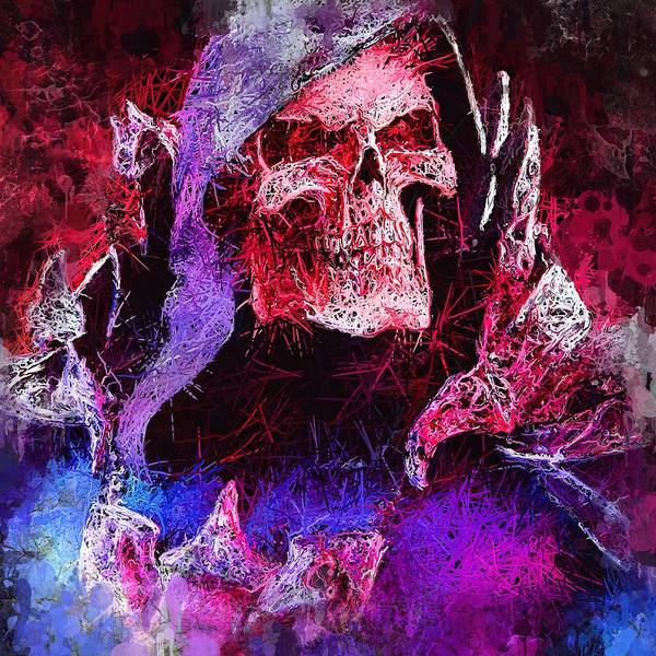Mixed Media - Skeletor by Al Matra