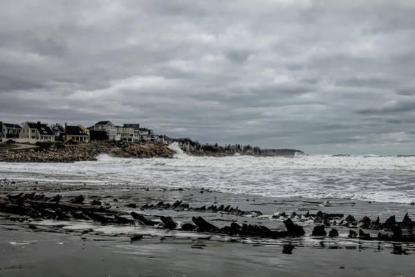 Photograph - Skeleton Shipwreck On Short Sands Beach by Jeff Folger