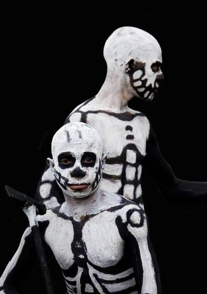 Photograph - Skeletons Warriors In Mount Hagen by Eric Lafforgue
