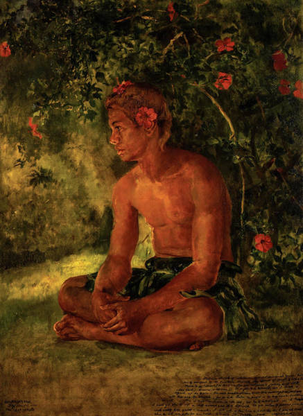 Wall Art - Painting - Sketch Of Maua, Apia - One Of Our Boat Crew, 1891 by John La Farge